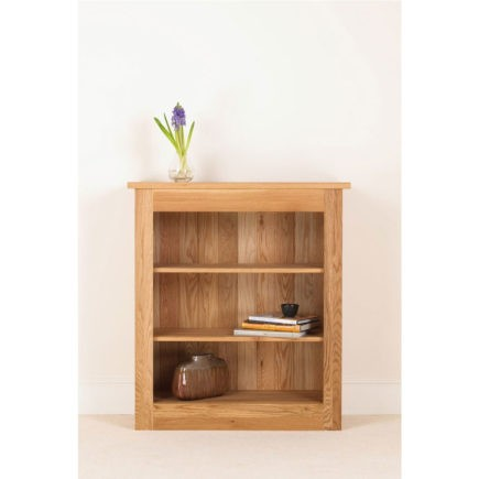 quercus 42-38 solid oak bookcase