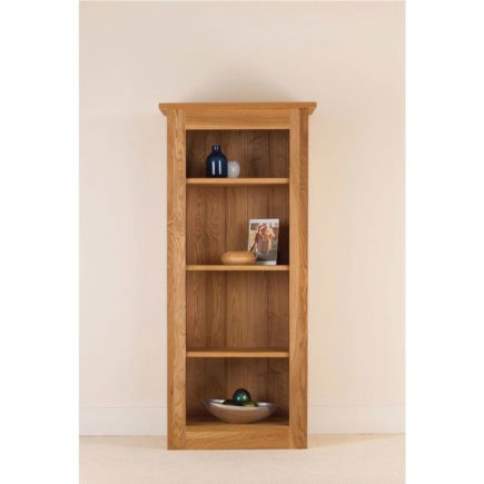 quercus solid oak bookcase 54-26 with adjustable shelves
