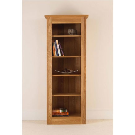 quercus solid oak bookcase 66-26