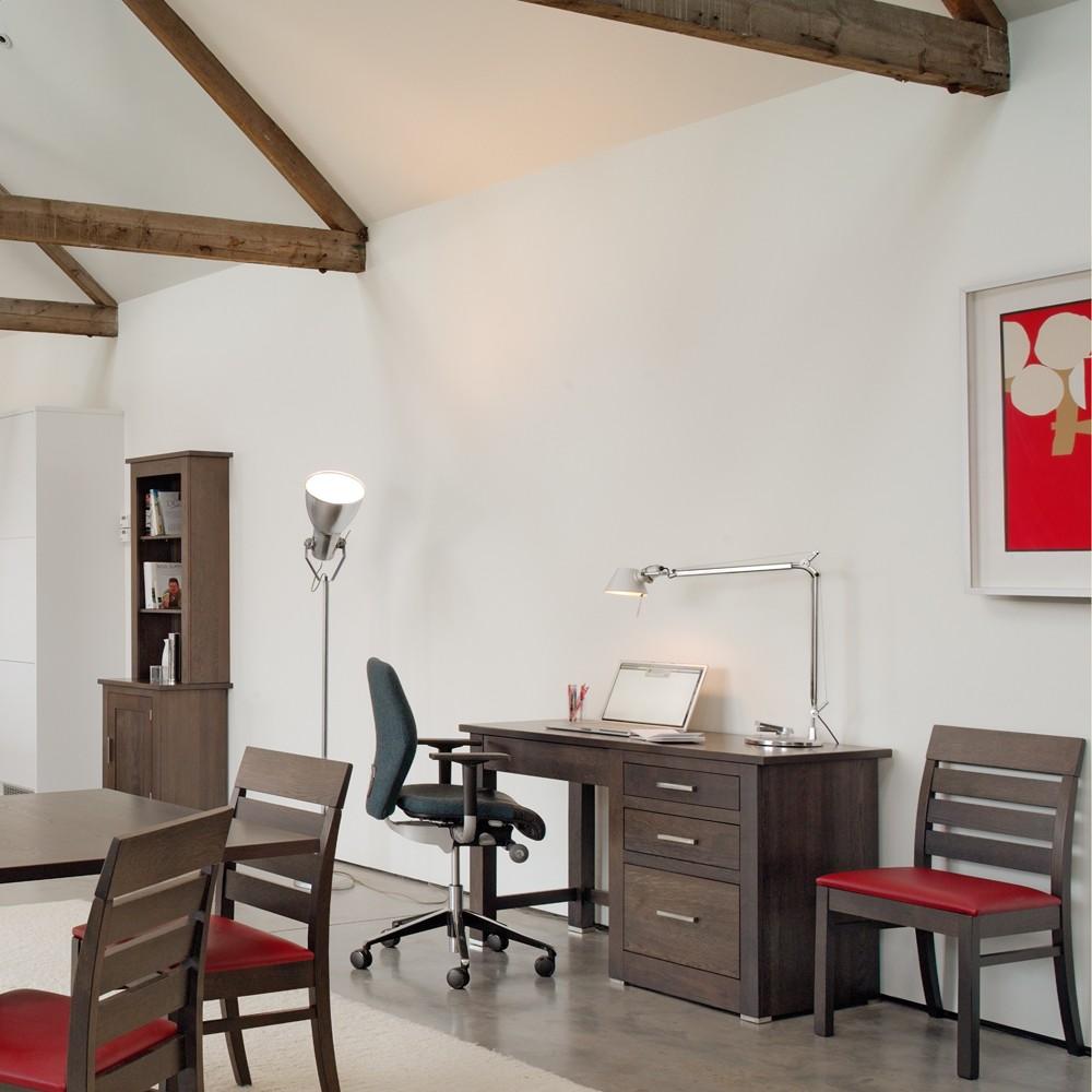 Quercus Oak Single Pedestal Office Desk