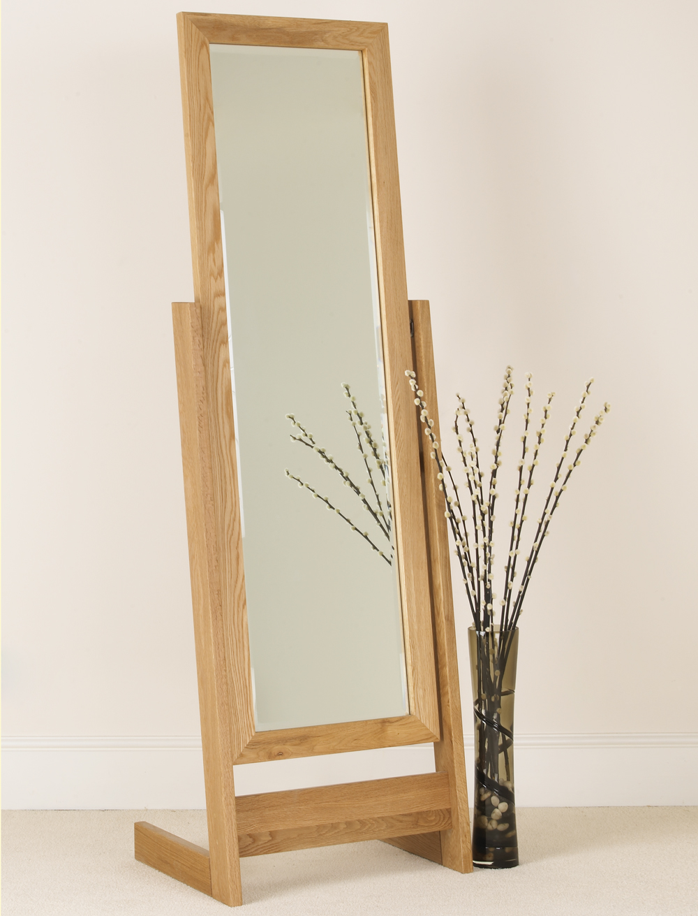 Quercus Oak Dressing Mirror Con Tempo Furniture
