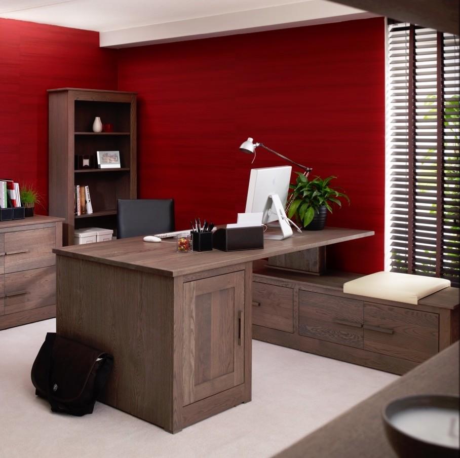 Ora Mixed Oak Office Directors Desk Con Tempo Furniture