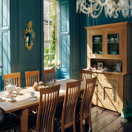 Quercus solid oak dining room tables and chairs