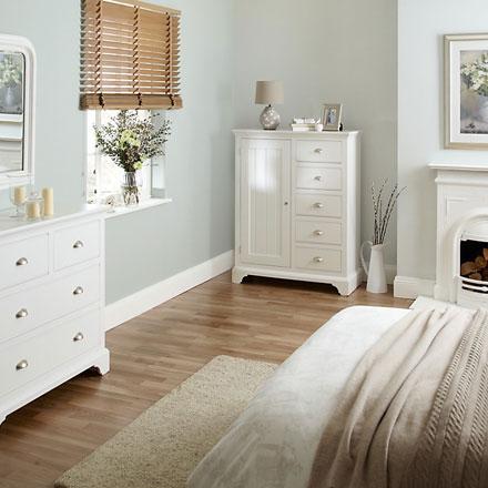Nouveau white painted bedroom furniture