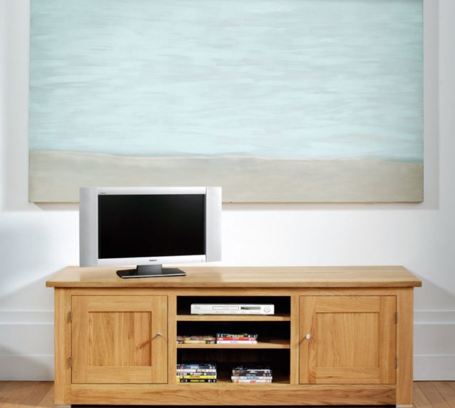 quercus solid oak large TV units