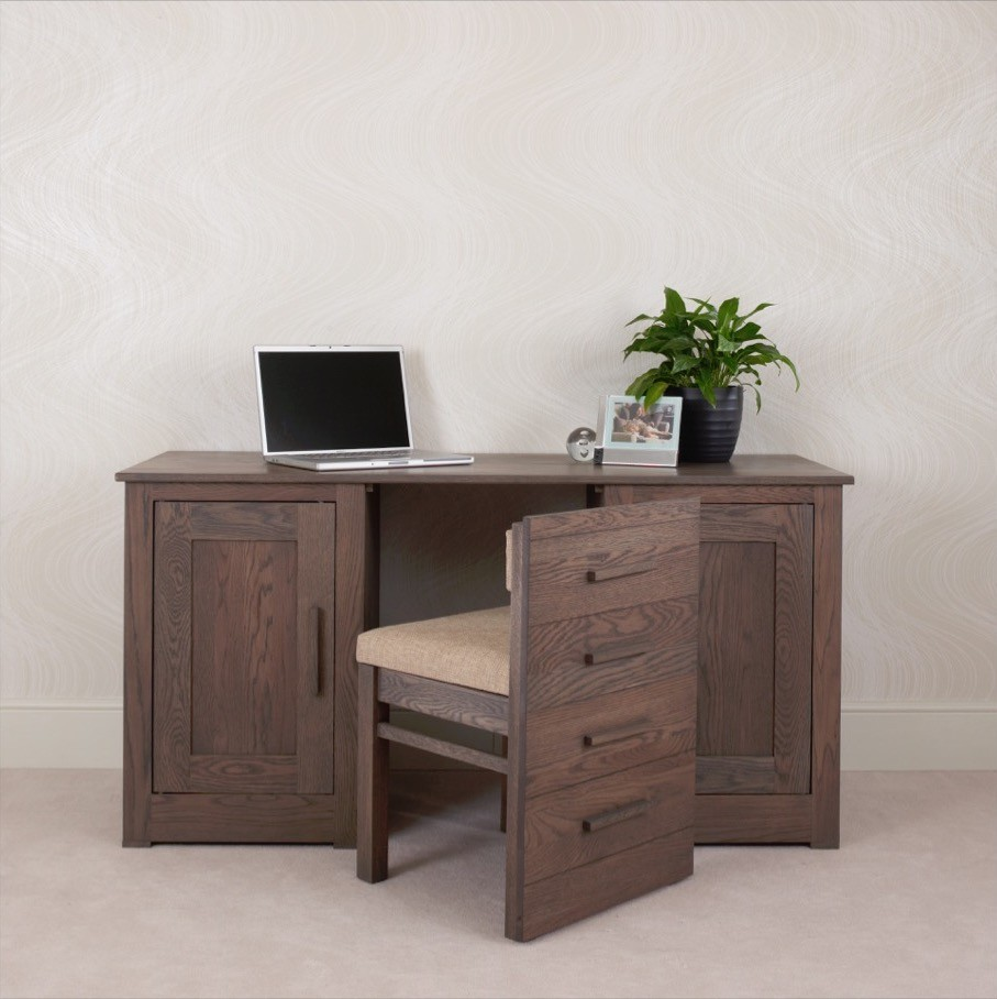 Ora Mixed Oak Office Desk Con Tempo Furniture