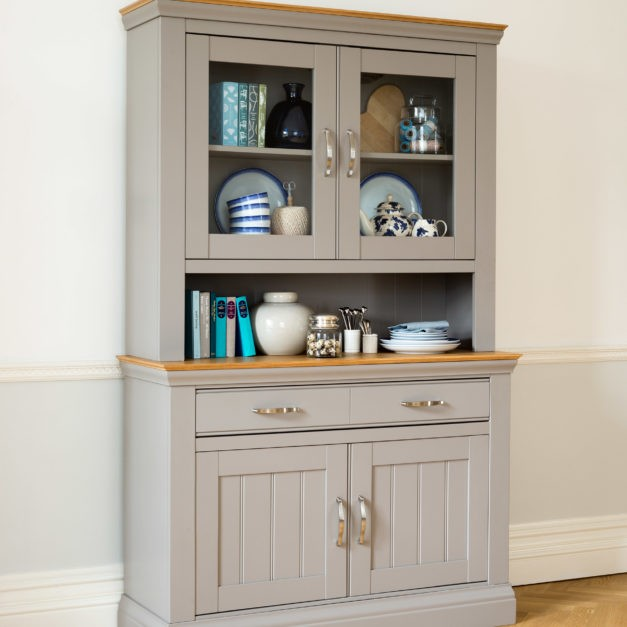 Lusso grey painted dining room furniture small painted sideboard