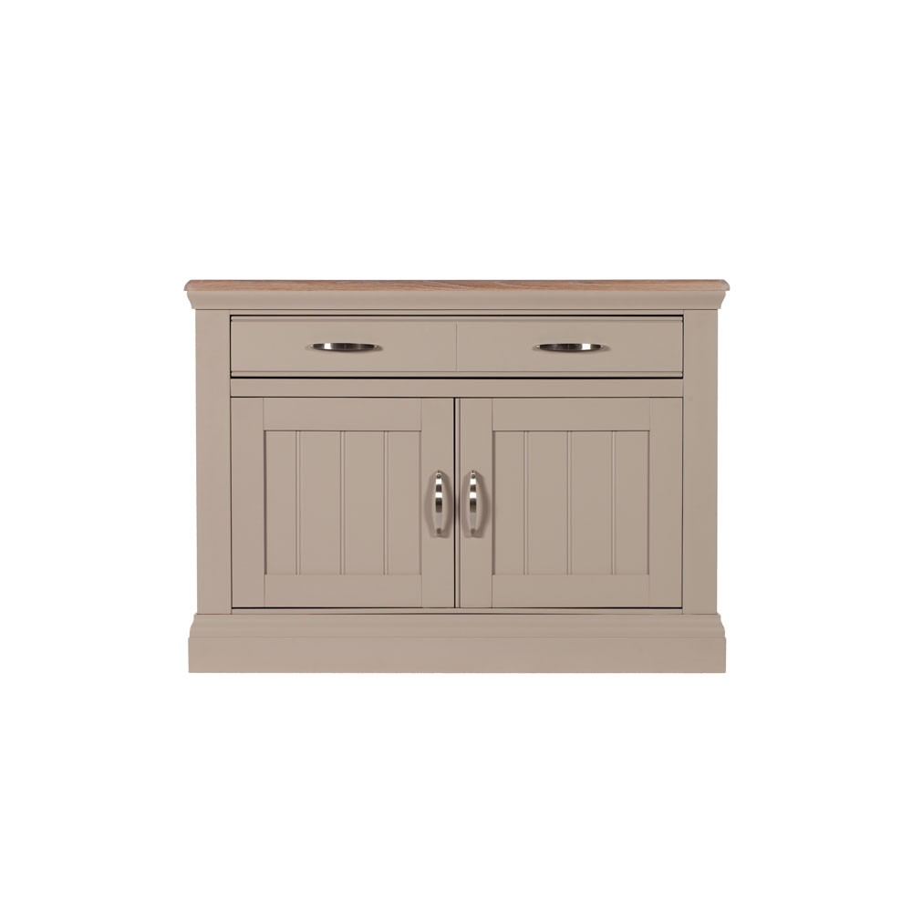Lusso Customisable Painted Small Sideboard With Sold Oak Top