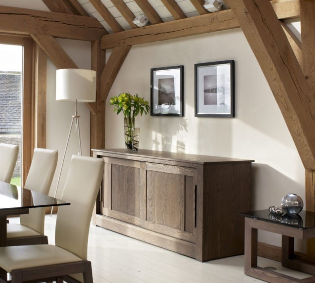 Ora contemporary oak sideboard