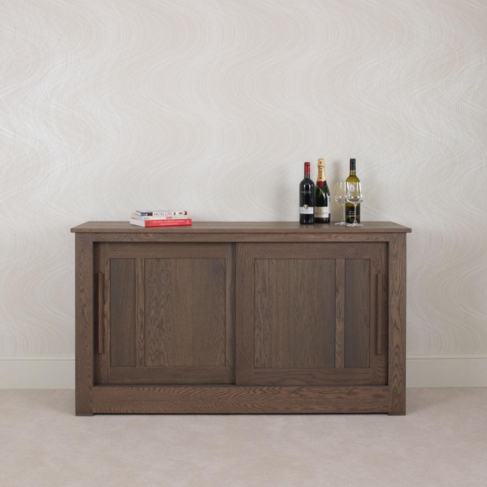 Ora Oak Sliding Door Sideboard 15m Con Tempo Furniture