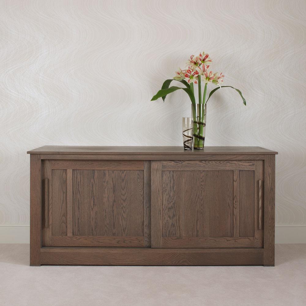 Ora Oak Sliding Door Sideboard 1 8m Con Tempo Furniture