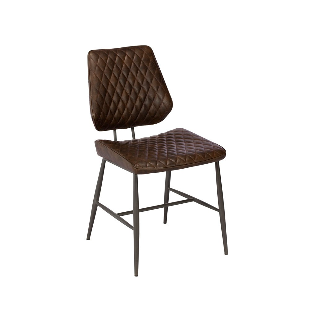 Dalton Brown Leather Upholstered Dining Chair