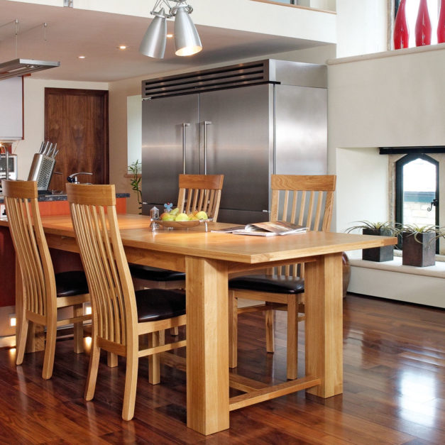 quercus solid oak dining room furniture extending rectory ding room table
