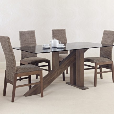Glass top and oak dining tables