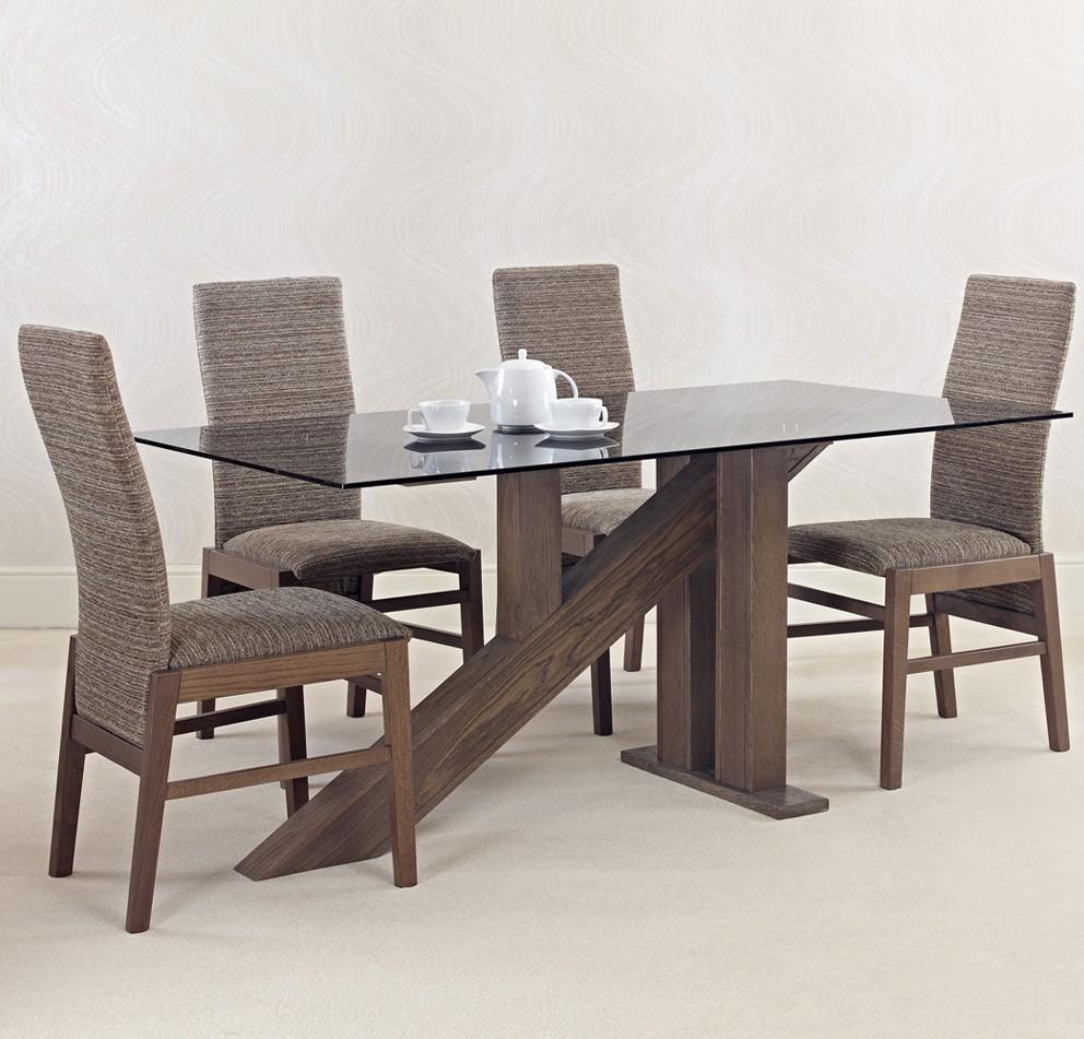 Quercus Libra Glass Solid Oak Dining Table Con Tempo Furniture