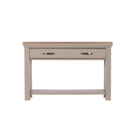 Lusso grey painted console table