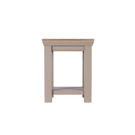 Lusso grey painted lamp table